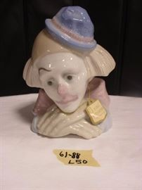 Paul Sebastian fine porcelain clown