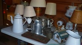 MORE LAMPS AND ENAMEL WARE
