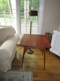 Side table and floor lamp