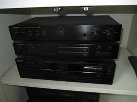 Rotel and Sony electronics