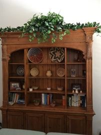 Ethan Allen Library Cabinet 2 piece unit,  gorgeous