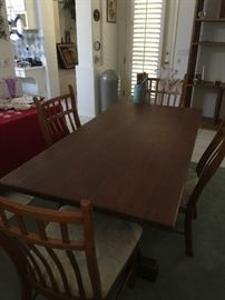 Hand crafted dining room table with 4 chairs   (A bit of info:  Roger Clyne's father hand crafted this table (  Roger Clyne & the Pacemakers