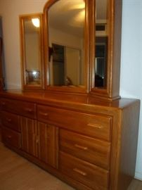 Triple Dresser with Mirror