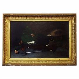 """""""Apres le duel"""" by Ricardo De Los Rios,  6ft wide framed"""