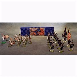 Miniature Civil War Lead Soldier Set