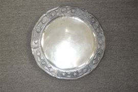 "Sanborns Mexico silver 18"" dia Tray"