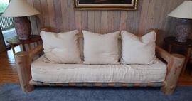 """Pappa"" London Marquess pine log sofa"