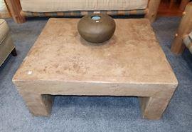 Machado stone finish coffee table