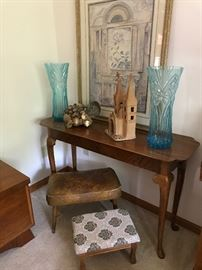 Sofa table vases and hope chest!