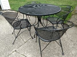 Wrought iron outdoor patio set