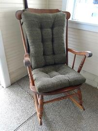 Solid Maple rocker with cushions
