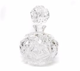 TIFFANY & CO. ROCK CUT CRYSTAL PERFUME BOTTLE