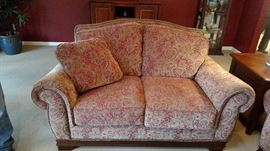 Fabulous loveseat with matching couch.  Like new condition.
