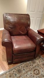 Leather chair with matching leather couch