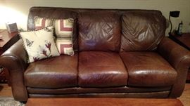 Very nice leather couch
