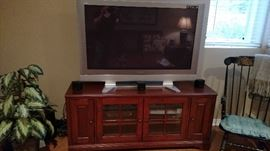 Entertainment center and large screen TV