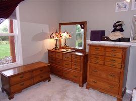 Three piece matching Cedar chest, Chest of Drawers, Dresser and Mirror