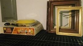 Crepe maker and picture frames - You could frame your crepes.