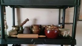 Hand made pottery by BM and crocks