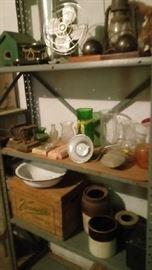 Vernors Crate, Crocks, enamelware