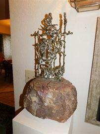 Bronze Art Nouveau Bronze sculpture