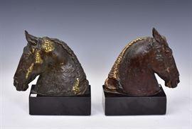 """Bronze Horse Bookends after Herbert Hazeltine 9"""" high"""