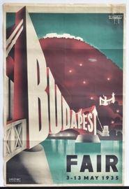 "Budapest Fair Poster Budapest, Fair 3-13 May 1935 Seidner, Budapest 37"" x 25"""