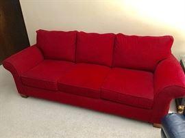 Cochrane red sofa