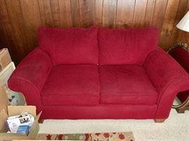 Cochrane red love seat