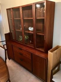 Mid Century Modern dining room china cabinet - sold as set