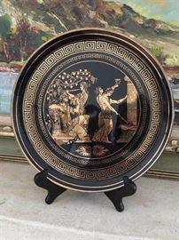 24k Gold Greek Deco Plate