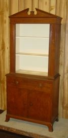Cabinet w/Bookcase Top