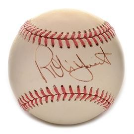 "Robin Yount Signed Rawlings AL Baseball SGC COA: A (HOF) Robin Yount signed Rawlings American League (Brown Pres.) baseball. Robin signed this baseball on the ""sweet spot"" area in black ink pen. The autograph is bold and smudge free and has been professionally authenticated by SGC with hologram affixed to the baseball. Please note, there is an accompanying SGC certification card enclosed. A member of the National Baseball Hall Of Fame, Robin is a member of Major League Baseball's ""3000 Hit Club."" A three-time American League All-Star and two-time ""Most Valuable Player,"" Robin was elected to the Hall Of Fame in 1999. The signed baseball is housed in a protective holder."