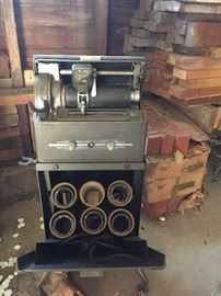 Antique Ediphone with wax tubes