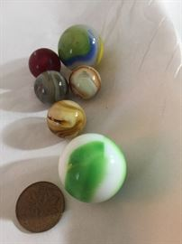 Vintage lot of marbles