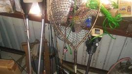 Fishing equipment and trawling motor.