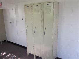 3 hall ways of lockers