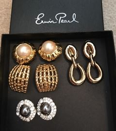 Designer Erwin Pearl earrings