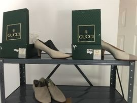 3 pair of Gucci women's shoes