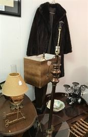 Mink coat and more lamps!