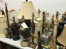 New lamp stock...prices start at $1 and go up.