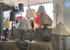 Many lamps have shades. All new!