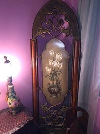 Metal decorative room divider screen