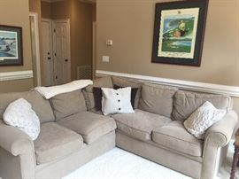 CUSTOM ROWE CORNER SECTIONAL SOFA