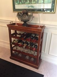 CHERRY SERVER/WINE RACK