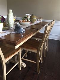 PUB HEIGHT DINING TABLE WITH 6 CHAIRS