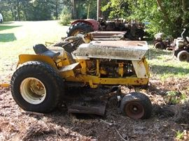 Two cub lo-boy tractors (not running).Taking bids