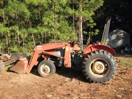 Massey Ferguson 240 tractor 960 hours with front end loader #M F 232.  Starting bid $7500.00.