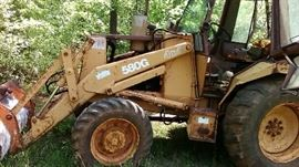 Case 580 G backhoe and trailer Starting bid $7500.00. Located in Jackson Georgia.