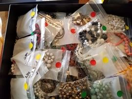 More than 200 pieces of costume jewelry. Priced .75 cents to $4 each.